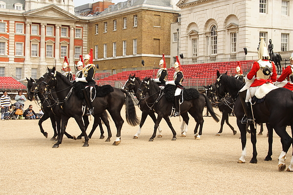 Household Cavalry - change of guards Photograph by Pejft