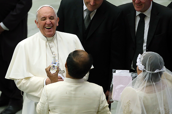 Pope Attends His Weekly Audience Photograph by Franco Origlia