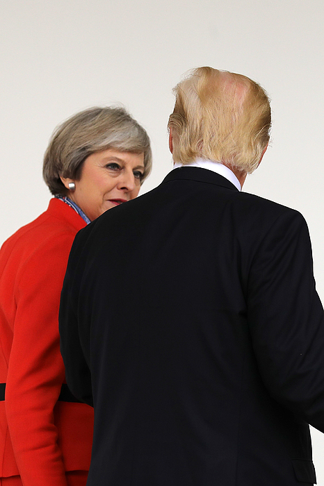 President Trump Meets With British PM Theresa May At The White House Photograph by Christopher Furlong