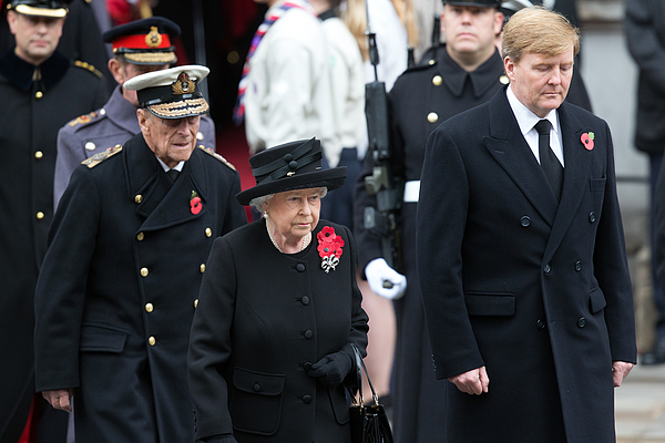 The UK Observes Remembrance Sunday Photograph by Carl Court