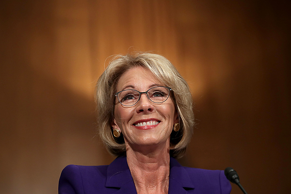 Trumps Selection For Education Secretary Betsy DeVos Testifies During Her Senate Confirmation Hearing Photograph by Chip Somodevilla