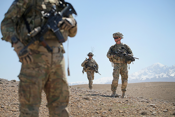 U.S. Soldiers Continue Patrols Outside FOB Shank In Afghanistan Photograph by Scott Olson
