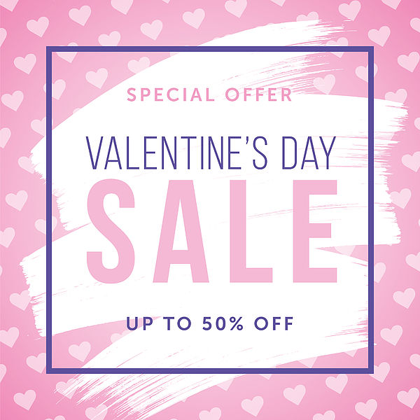Valentine's Day design for advertising, banners, leaflets and flyers. Drawing by Discan