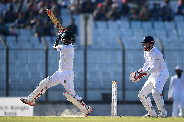 Bangladesh v England - First Test: Day Two Photograph by Gareth Copley
