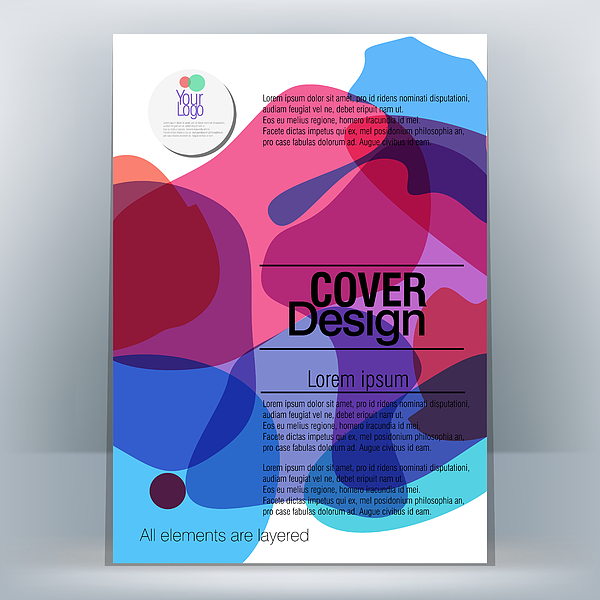 Brochure Design Template Drawing by LEOcrafts