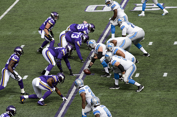 Detroit Lions v Minnesota Vikings Photograph by Hannah Foslien