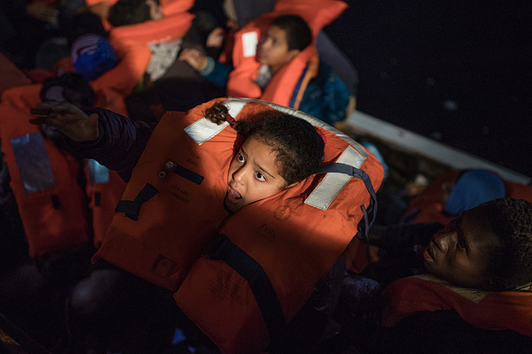 MOAS Conduct Rescue Operations Off The Libyan Coast Photograph by Dan Kitwood