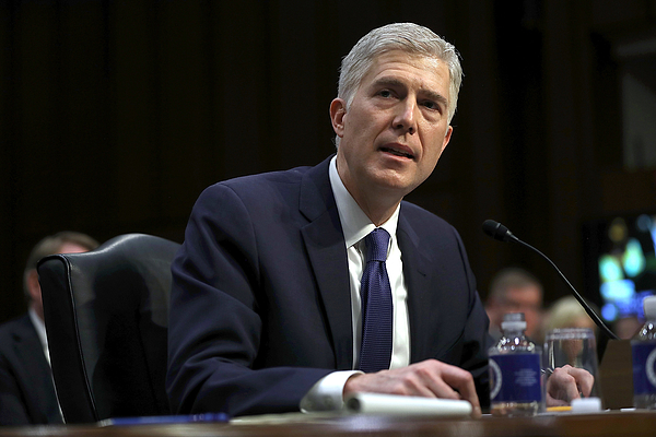 Senate Holds Confirmation Hearing For Supreme Court Nominee Neil Gorsuch Photograph by Justin Sullivan