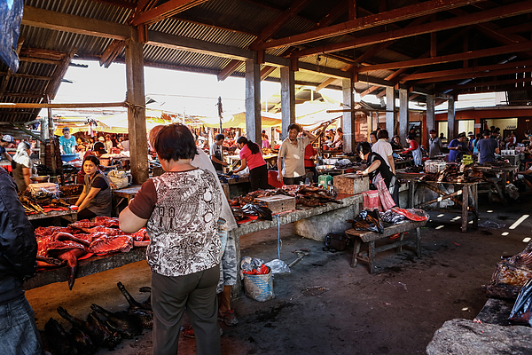Langowan Traditional Market Photograph by Putu Sayoga