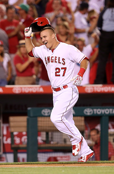 Mike Trout Photograph by Stephen Dunn