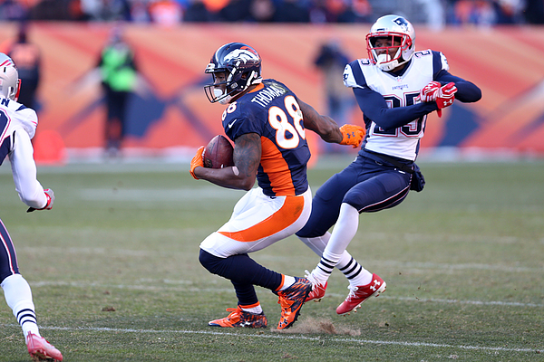 New England Patriots v Denver Broncos Photograph by Rob Leiter