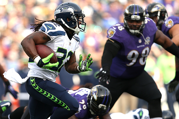 Seattle Seahawks v Baltimore Ravens Photograph by Patrick Smith