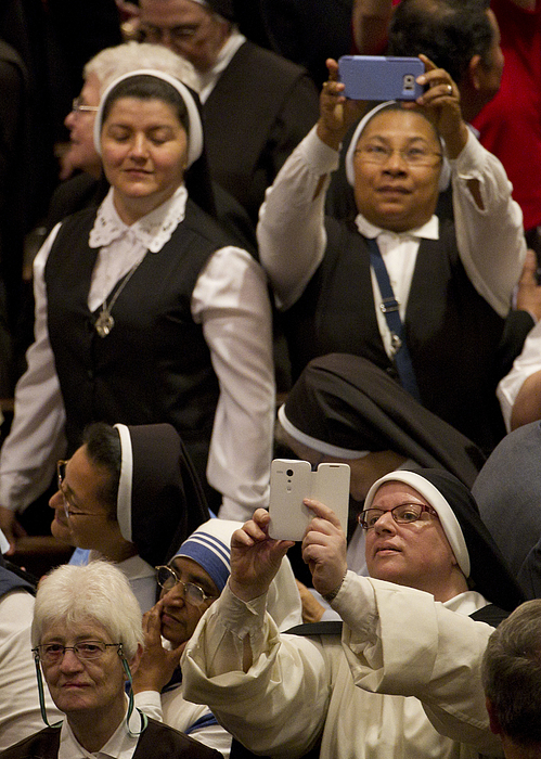 Evening Prayer Service At New Yorks St. Patricks Cathedral Led By Pope Francis Photograph by Pool