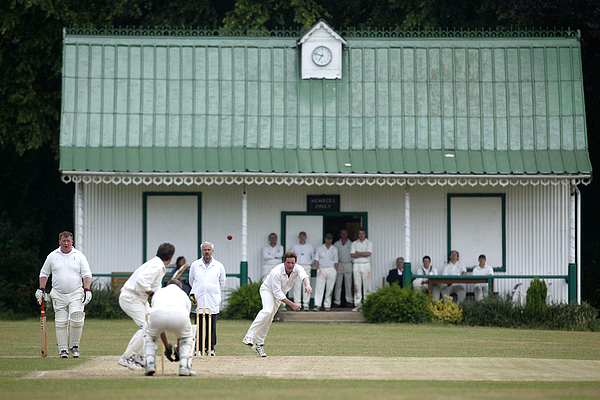 From The Boundarys Edge - Village Cricket Photograph by Laurence Griffiths