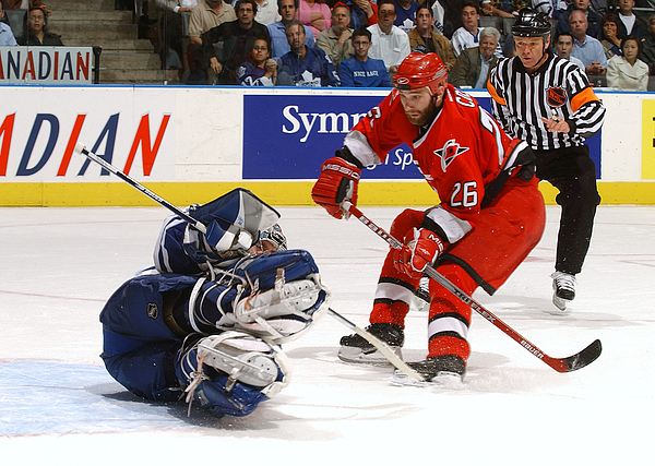 Hurricanes v Maple Leafs Photograph by Dave Sandford