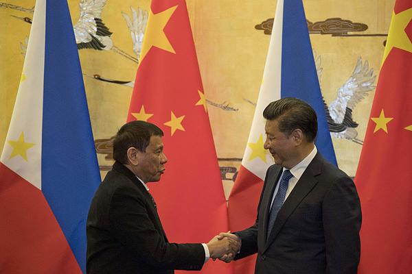 Philippine President Rodrigo Duterte Visits China Photograph by Pool