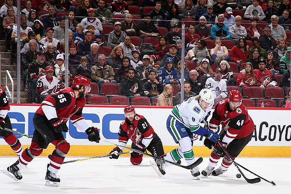 Vancouver Canucks v Arizona Coyotes Photograph by Christian Petersen