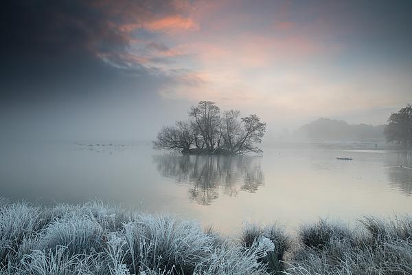 A frosty lake scene. Photograph by Alex Saberi
