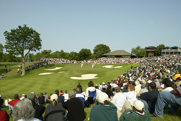 A general-view of the 18th green  Photograph by Scott Halleran