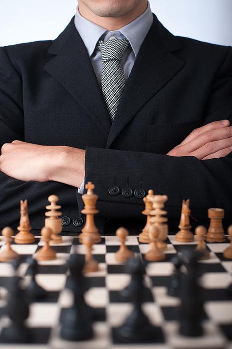 A man through the chess Photograph by Toshiro Shimada