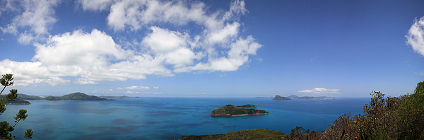 A panorama from Hamilton Island Photograph by by Ludovic Toinel
