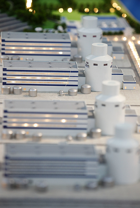 A scale model of the Sanmen Nuclear Power Co. plant is displ Photograph by Bloomberg