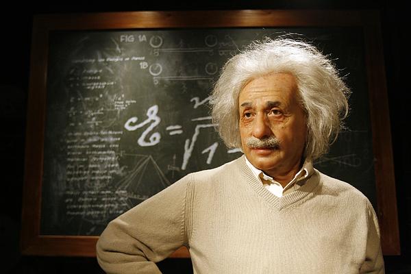A wax figure of Albert Einstein, German-born physicist, stan Photograph by Bloomberg