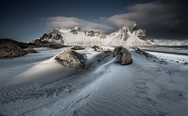 A winter mountain scene. Photograph by Alex Saberi