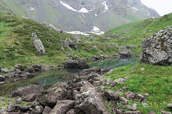 Abudelauri Lakes, Chaukhi, Georgia Photograph by Vyacheslav Argenberg