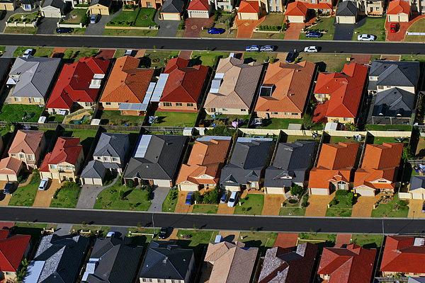 Acacia Gardens, North-West Sydney, Aerial Photography Photograph by Andrew Merry