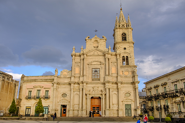 Acireale, Basilica Of Saints Peter And Paul - Sicily, Italy Photograph by Oriredmouse