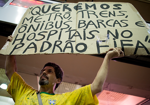 Activists Protest World Cup In Rio De Janeiro Photograph by Buda Mendes