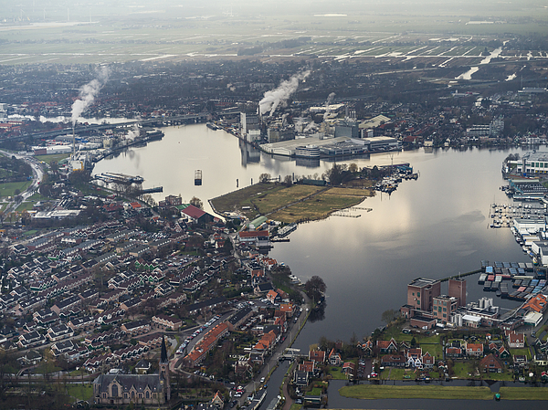 Aerial Flying Over Outer Amsterdam, Factories Photograph by Nisian Hughes