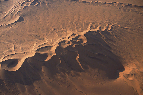 Aerial View Of Namib Desert , Namibia , Africa Photograph by Comstock Images