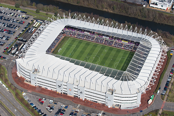 Aerial Views Of Swansea Citys Liberty Stadium Photograph by Matthew Horwood