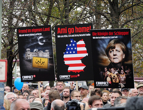 AfD Holds Rally In Berlin Photograph by Chad Buchanan