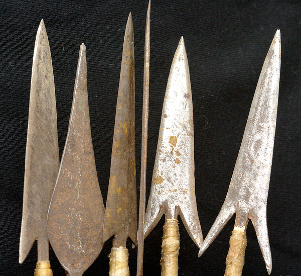 Africa, East Africa, Kenya, Mombassa, View Of Hand-Made Barbed Arrow Heads (For Use Against People) Photograph by Kypros