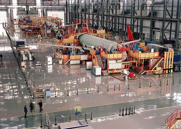 Aircraft assembly line Photograph by Xenotar