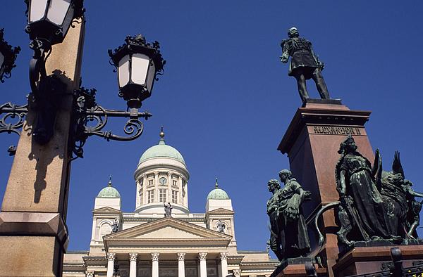 Alexander II Statue And Lutheran Cathedral, Helsinki, Finland, Scandinavia, Europe Photograph by Ken Gillham / robertharding