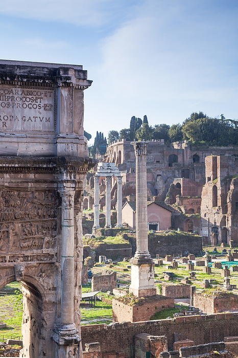 Ancient Old Ruins In The Roman Forum, Rome, Italy Photograph by Matteo Colombo
