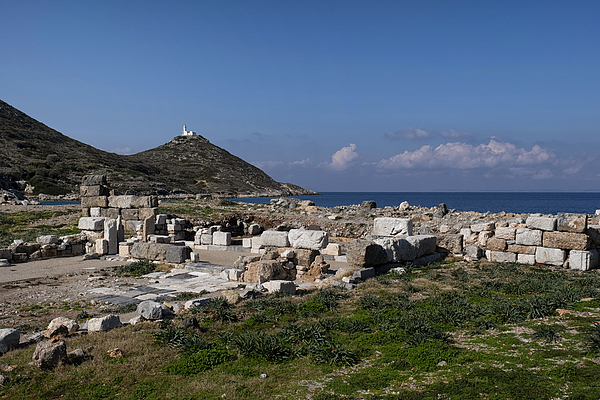 Ancient ruins and lighthouse at Knidos on a sunny clear day Photograph by Emreturanphoto