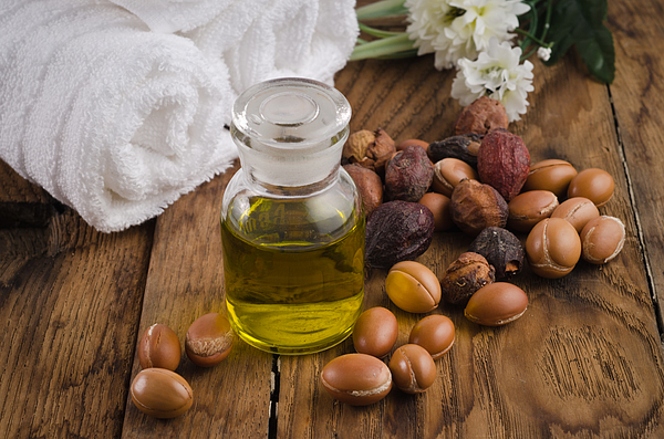Argan oil with fruits Photograph by Luisapuccini