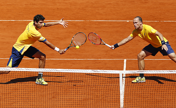 Argentina v Brazil - Davis Cup 2015 Day 2 Photograph by Gabriel Rossi