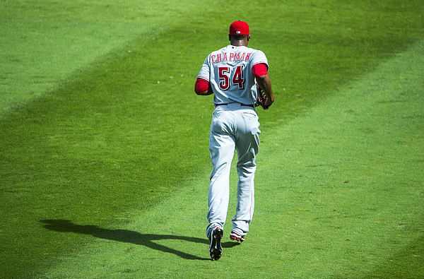 Aroldis Chapman Photograph by Pouya Dianat/Atlanta Braves