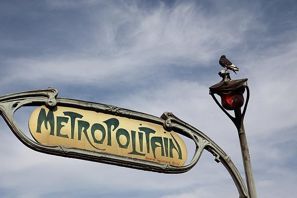 Art Nouveau metro sign, Paris Photograph by Pejft