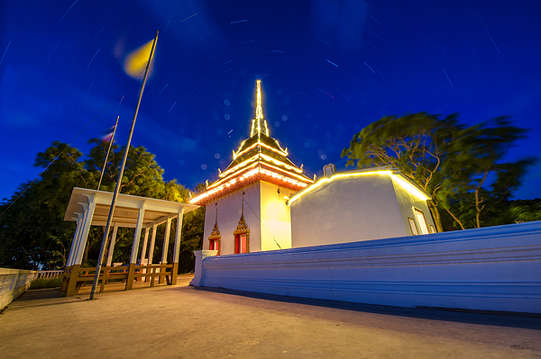 Asia Temple With The Star Photograph by [Genesis] - Korawee Ratchapakdee