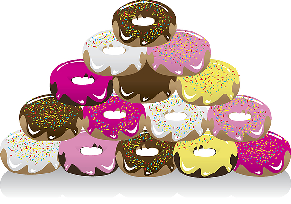 Assorted Donuts Drawing by Dhanford