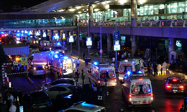 At Least 10 Killed In Suicide Bomb Attack On Ataturk International Airport In Istanbul Photograph by Getty Images
