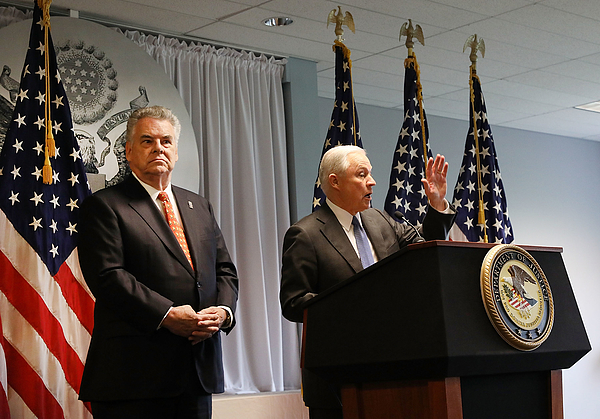 Attorney General Jeff Sessions Addresses Violent Crime On Visit To Long Island Photograph by Spencer Platt