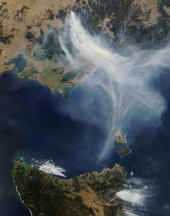 Australian Bushfires Photograph by Nasa